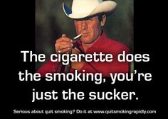 Quit smoking Quote. Marlboro man, now dead because of smoking. Serious about quit smoking? Check out www.quitsmokingrapidly.com Quit Smoking Quotes, Marlboro Man, The Smoke, Self Help, Motivation, Check, Life, Art, Art Background