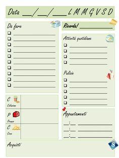 Planner settimanale organizer pronto sta stampare free for Planning faccende domestiche