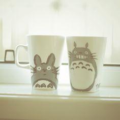 #DIY #totoro #mug Cute Diys, Cute Crafts, Crafts To Do, Creative Crafts, Arts And Crafts, Diy Crafts, Craft Tutorials, Craft Projects, Kawaii Stuff
