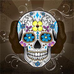 Mexican Skull by John Karpinsky, an american artist living in Milwaukee