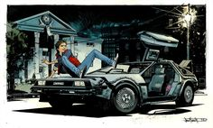 Delorean Pinup By Seangordonmurphy by SpicerColor.deviantart.com on @deviantART