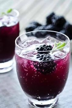 Mad Buffalo Blackberry Cooler!  Rub glass rim with a lemon wedge, dip in sugar and fill with ice. In a blender, add the following ingredients and blend for 10 seconds: 2 tsp blackberry jam 1 1/2 oz Mad Buffalo DistilleryThunderbeast Storm Moonshine 4 oz sparkling water 1 1/2 tsp simple syrup 1/2 tsp chopped Basil  Pour into glass. Stir in 6-8 frozen blackberries. Garnish with basil sprig and lemon twist. Enjoy! Recipe courtesy of Elise Burnette by cherylP**
