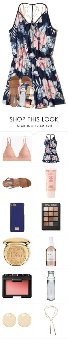 """""""staying up 'til 1am just to talk to you is literally the best ☺️"""" by theblonde07 ❤ liked on Polyvore featuring J.Crew, Hollister Co., Steve Madden, 100% Pure, Dolce&Gabbana, Sonia Kashuk, Christian Dior, Herbivore, NARS Cosmetics and Auden"""