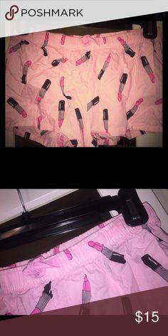 Pink Pajama shorts Lipstick print PINK Victoria's Secret Intimates & Sleepwear Pajamas