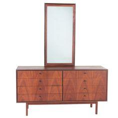 Milo Baughman for Arch Gordon Mid Century Modern Walnut & Ebony-Trimmed Dresser | EBTH