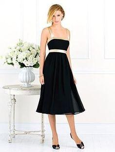 (HUNG003123)A-line Spaghetti Straps Sashes / Ribbons Knee-length Chiffon Bridesmaid Dress / Cocktail Dress / Homecoming Dress