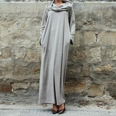 7a24ba43041c US $18.0 |Preself Loose Hooded Maxi Dresses Women's Knit Off Shoulder Wrap  Dress Casual long Sleeves Plus Size Party 2018 Autumn Winter-in Dresses  from ...