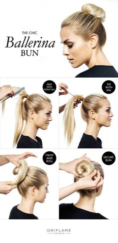 How-To: The Chic Ballerina Bun  The ballerina bun has made a huge comeback in the last few years, and we're not surprised why! This stylish, yet effortless look is one we'll want to wear all year round. Just follow our 4 easy steps and you'll be ballerina chic in no time.