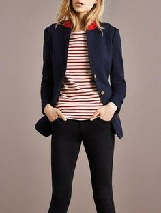 blue   red stripes = gorgeous nautical style | Burberry