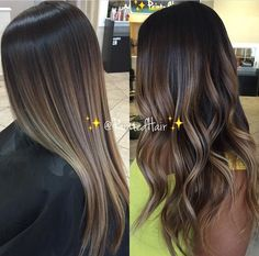 New hair brown balayage ashy ideas Brown Hair Balayage, Balayage Color, Balayage Brunette, Brunette Hair, Hair Highlights, Bayalage, Dyed Hair Brown, Balayage On Straight Hair, Ashy Balayage