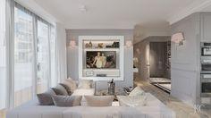 Luxury livingroom designed by Krzysztof Chrustalew
