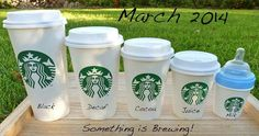Baby announcement idea... If only I liked coffee