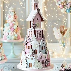 Gingerbread winter village by @peggyporschenofficial This cake is so amaziiing, i love pastel colors . Perfect for christmas party. Ce gateau est trop beau!!! #gingrebread #house #christmas #christmastree #winter #feerie #magical #christmasparty #christmaseve #cute #snow #pastel #biscuit #cookies #meringue #macaron #food #foodporn #cake #cakes #cakedesign #baker #bakery #pastry #patisserie #amourducake #birthdaycake #christmascake #photooftheday