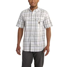 102419 Carhartt Men's Force Ridgefield Plaid SS Shirt