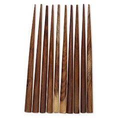 Hair stick, wood (dyed), dark brown, 6 inches, end-drilled. Sold per pkg of 10.