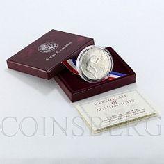 USA $1 Olympic Games High Jump Atlanta Commemorative Silver Coin 1996