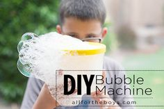 All for the Boys - All for the Boys - DIY Bubble Machine