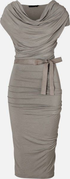 Stylish Draped Jersey Dress. Soft and sleek.