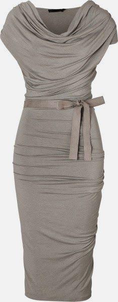 Stylish Draped Jersey Dress