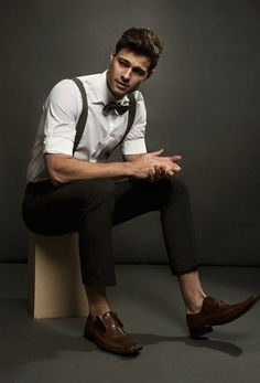 Matt wears shirt Calvin Klein, trousers Perry Ellis, bow-tie Lille Hus  Textiles 5fca584b18