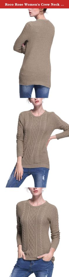 Roco Rose Women's Crew Neck Ribbed knitted Long Sleeve Tunic Sweater Camel S. Roco Rose is a research and development, production, marketing high-end clothes, mainly exported to Western Europe, the United States.Every quarter,our stylist will release the newest design and share their concept with favorite customers. What we firmly believe is to offer the reasonable price, high quality clothing ,being faithful friend with our customers.Time will prove all we work.