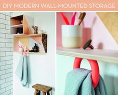 How To: Make a Modern Wall-Mounted Storage Unit