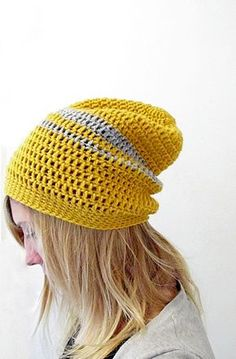 DIY: #crochet urban slouchy #beanie