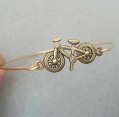 Cute, cute, cute! Bike Brass Bangle Bracelet