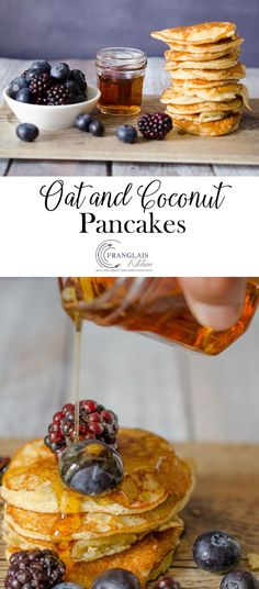 These soft fluffy pancakes are made using coconut flour and oatmeal, so they are wholesome and filling. As well as being high in protein and fibre (and the