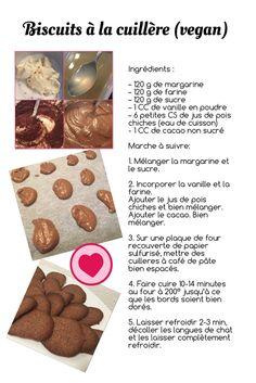 Recette biscuits à la cuillère au cacao (vegan)