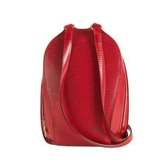 A stylish Louis Vuitton Red Epi Leather Rucksack Bag   From a collection of rare vintage handbags and purses at https://www.1stdibs.com/fashion/accessories/handbags-purses/