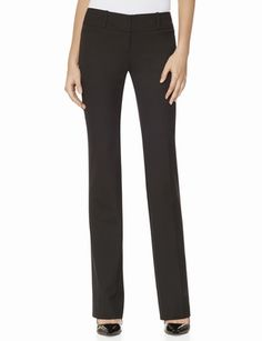 Black dress pants similar to the Drew Collection Bootcut Pants from THELIMITED