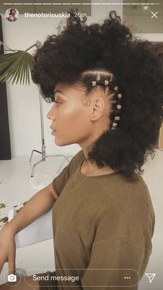 Caring For Natural Hair for all things natural hair + care! Caring For Natural Hair for all things natural hair + care! Natural Hair Inspiration, Natural Hair Tips, Natural Hair Styles, Natural Quick Hairstyles, Natural Hair Mohawk, African Hairstyles, Afro Hairstyles, Braided Mohawk Hairstyles, Cabello Afro Natural