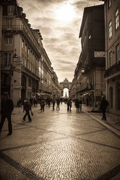 Downtown Lisboa, Portugal