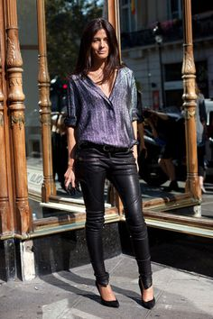 leather pants styled perfectly