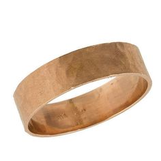 Mens Hammered Matte Wedding Band Ring in 14k Rose by NetaJewelry, $419.00