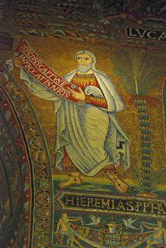 The Prophet Jeremiah, Byzantine mosaics, Santa Maria in Trastevere