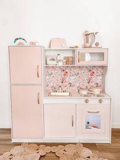 Kmart Toy Kitchen, Kids Toy Kitchen, Wooden Play Kitchen, Kitchen Sets, Ikea Kitchen, Kitchen Hacks, Baby Kitchen Set, Girls Play Kitchen, Kmart Bathroom