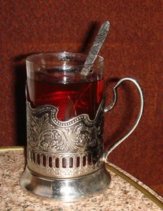 Traditional Russian tea service (here, provided to train passengers) http://careersteer.org/blog/media/1/train_tea.jpg