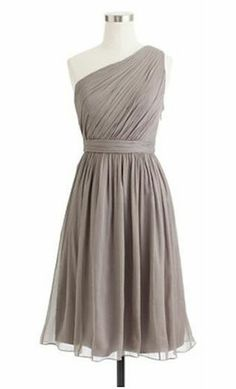 short gray bridesmaid dresses - If I went with something simple and short like this, in the lovely gray color ( I think I would want it a little darker of a gray ) - I think my bridesmaids would be happy!... May even be a dress you could re-wear, whether for a fancy night-out or even another wedding as an attendee!