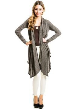 $16 at www.heavenlycouture.com Striped Hooded Shawl in Charcoal