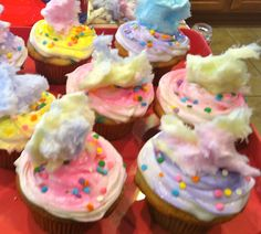 Cotton Candy Cupcakes by *Me*
