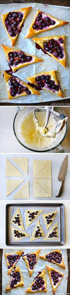Blueberry Cream Cheese Pastries #recipe  #pastryday