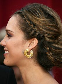 Jessica Alba Grecian hair....love it