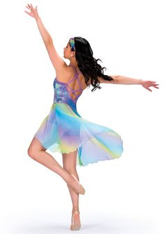 Lyrical Dance Costume Love the colors in this skirt