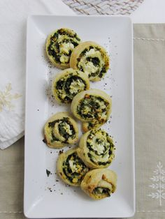 Spinach & Feta Puff Pastry Pinwheels
