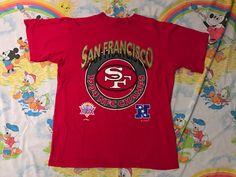 bea3d85d1 Items similar to Vintage 1995 San Francisco 49ers 1994 NFC Champs T-shirt -  Size XL on Etsy