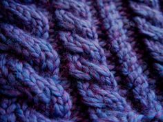 Blue Violet Indigo Purple Knitted Ear Warmer by KnittingWriter, $25.00