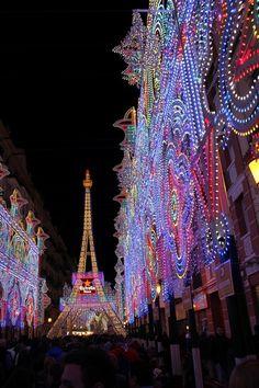 Valencia street lights at Fallas 2012