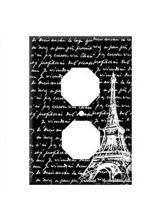 Double Light Switch Cover of Eiffel Tower by LilysNurseryShop